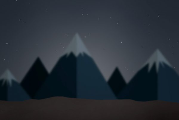 Mountains dark